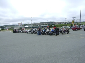 Meeting up for the Memorial Day Ride. Good turn out!